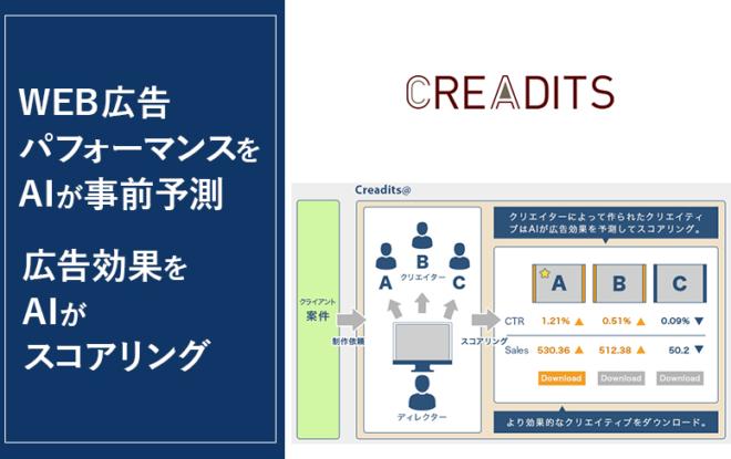 WEB広告パフォーマンスをAIが事前予測!クリエイティブに特化したSaaS型AIプラットフォーム「Creadits®」