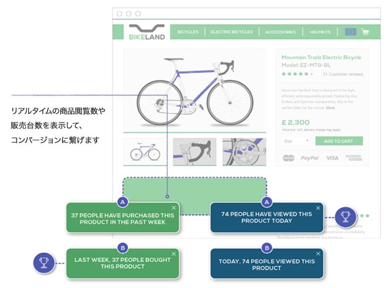 Dynamic Yield事例BikeLand